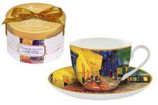 Чашка с блюдцем Ночная терраса кафе (Ван Гог), в подарочной упаковке