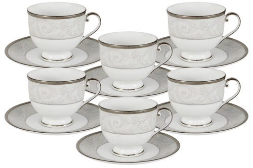 Набор: 6 чашек + 6 блюдец Ноктюрн