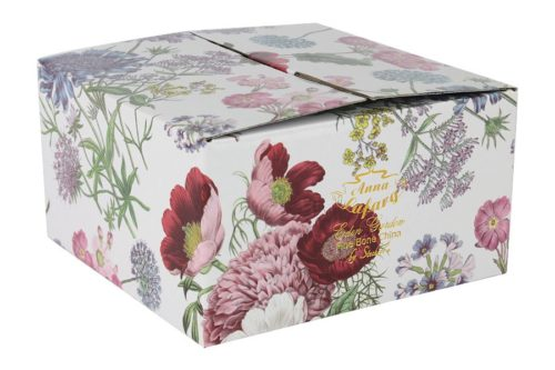 Чашка с блюдцем (сиреневые цветы)  Лаура в подарочной упаковке