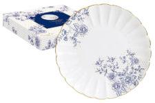 Тарелка десертная Голубые пионы