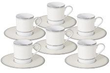 Кофейный набор Жемчуг: 6 чашек + 6 блюдец Naomi