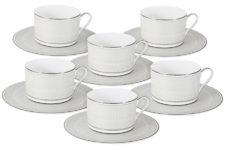 Чайный набор Жемчуг : 6 чашек + 6 блюдец 0,25л Naomi