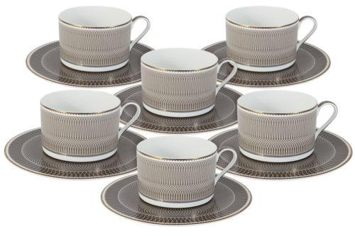Чайный набор Мокко: 6 чашек + 6 блюдец