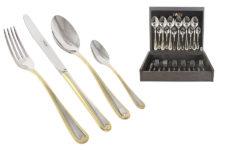 Набор столовых приборов 24 предмета на 6 персон Santorini Gold