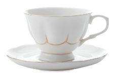 Чашка с блюдцем (белая) Свежее дыхание в подарочной упаковке