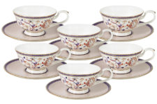 Набор 12 предметов Королева Анна: 6 чашек+ 6 блюдец