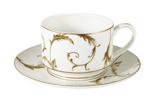 Чашка с блюдцем Элегия Голд