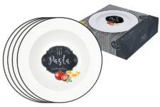 Набор из 4-х тарелок для пасты Кухня в стиле Ретро в подарочной упаковке