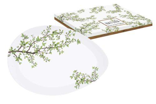 Тарелка овальная Натура в подарочной упаковке