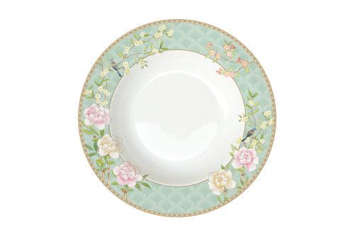 Тарелка суповая Дворцовый парк (салатовая) без инд.упаковки