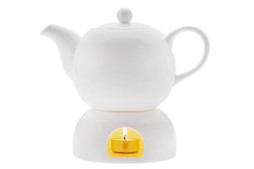 Чайник на подставке Лилия в подарочной упаковке