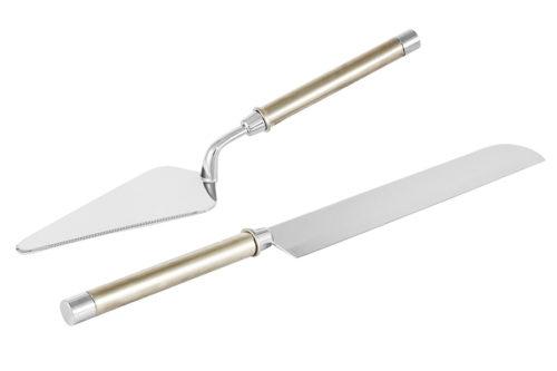 Набор сервировочный для торта Перле: нож, лопатка