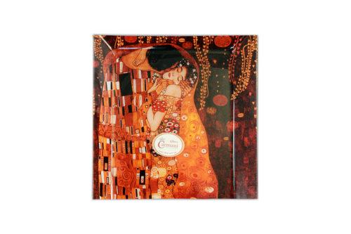 Тарелка квадратная Поцелуй (Г.Климт)