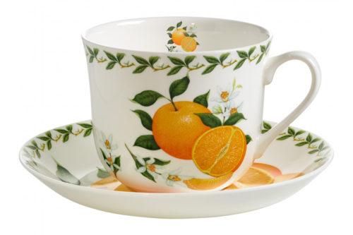 Чашка с блюдцем Апельсин в подарочной упаковке