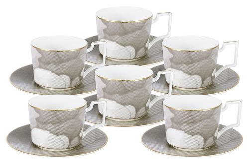 Чайный набор Лунная соната: 6 чашек + 6 блюдец