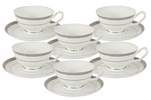 Набор 12 предметов Бостон : 6 чашек + 6 блюдец