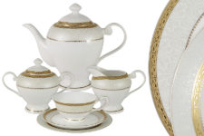 Чайный сервиз Бостон Голд 21 предмет на 6 персон