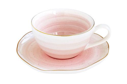 Чашка для кофе с блюдцем Artesanal (розовая) без инд.упаковки