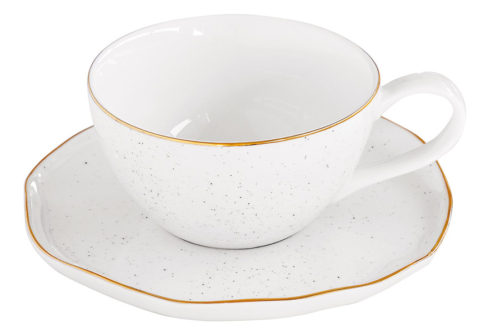 Чашка с блюдцем Artesanal (белая) без инд.упаковки