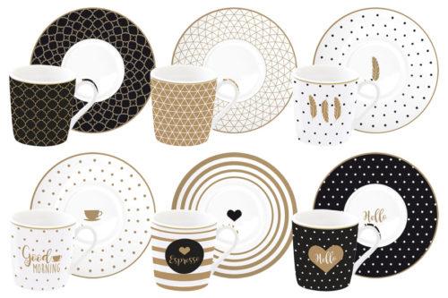 Набор: 6 чашек + 6 блюдец для кофе Доброе утро в подарочной упаковке