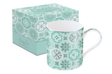 Кружка Изразцы (зеленая) в подарочной упаковке