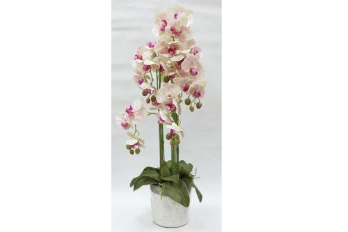 Декор.цветы Орхидеи св.розовые в керам.вазе