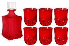 Набор для виски: штоф  + 6 стаканов Адажио - красная