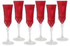Набор: 6 бокалов для шампанского Адажио - красная