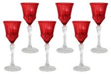 Набор: 6 рюмок для ликера Адажио - красная
