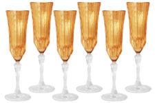 Набор: 6 бокалов для шампанского Адажио - янтарная