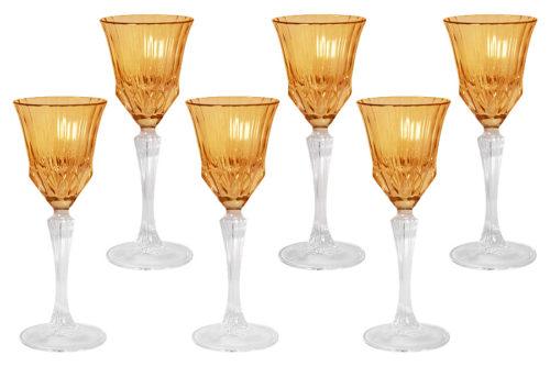 Набор: 6 рюмок для ликера Адажио - янтарная