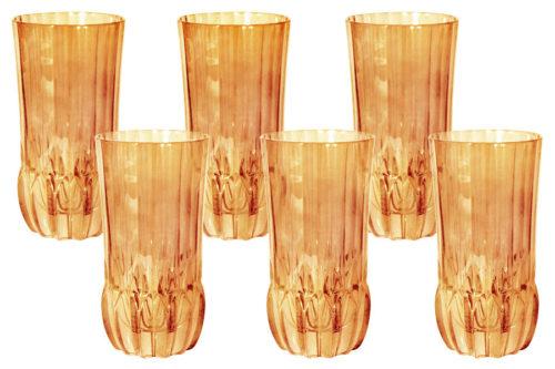 Набор: 6 стаканов для воды Адажио - янтарная