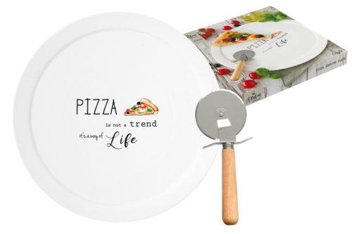Набор для пиццы: блюдо и нож Kitchen Elements в подарочной упаковке