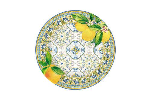 Тарелка закусочная Капри (цитрус) без инд.упаковки