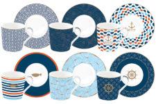 Набор: 6 чашек + 6 блюдец для кофе Морской берег в подарочной упаковке