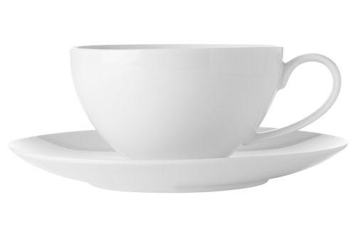 Чашка с блюдцем большая Белая коллекция без инд.упаковки