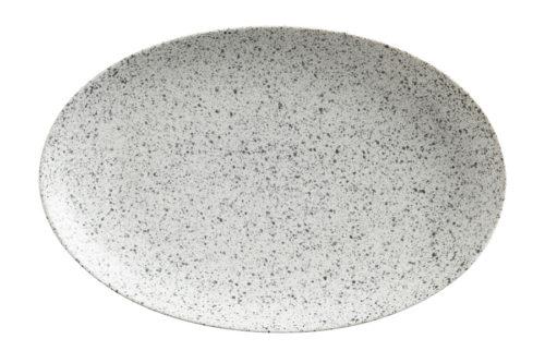 Тарелка овальная малая (пепел) Икра без инд.упаковки