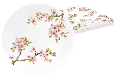 Тарелка десертная Японская сакура в подарочной упаковке