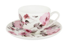 Чашка с блюдцем Пионы в цветной упаковке