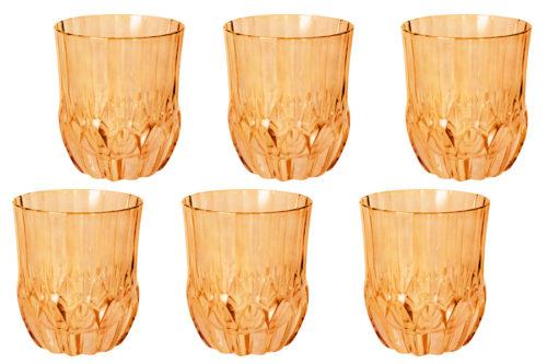 Набор: 6 стаканов для виски  Адажио - янтарная