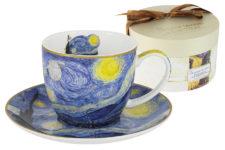 Чашка с блюдцем Звёздная ночь (Ван Гог)