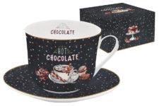 Чашка с блюдцем Hot Chocolate в подарочной упаковке