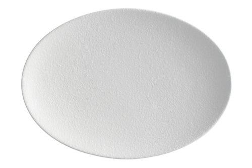 Тарелка овальная Икра (белая) без инд.упаковки.