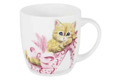 Кружка Котёнок в розовом