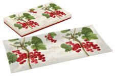 Тарелка прямоугольная Красная смородина в подарочной упаковке