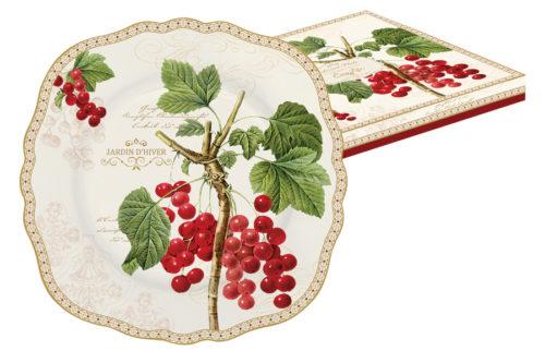 Тарелка десертная Красная смородина в подарочной упаковке