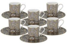 Кофейный набор Злата: 6 чашек + 6 блюдец