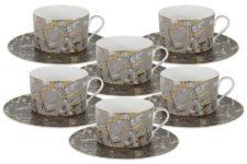 Чайный набор Злата: 6 чашек + 6 блюдец