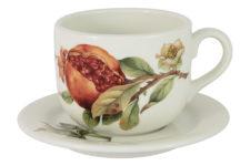 Чашка с блюдцем Гранат без инд.упаковки