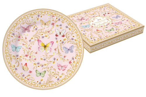 Тарелка десертная (розовая) Majestic в подар.упаковке